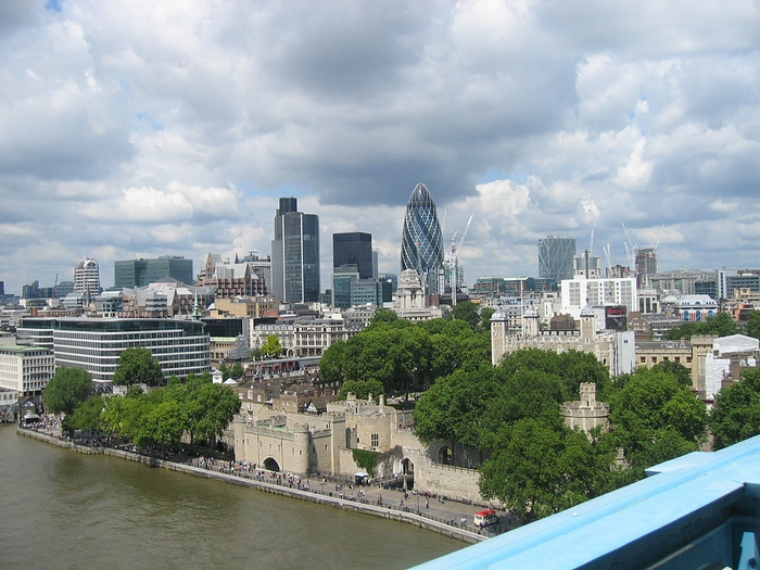 View London from tower Bridge