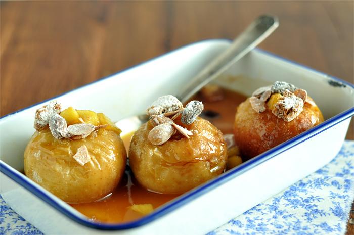 pommes au four calvados