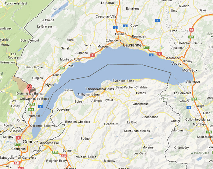 carte lac thonon