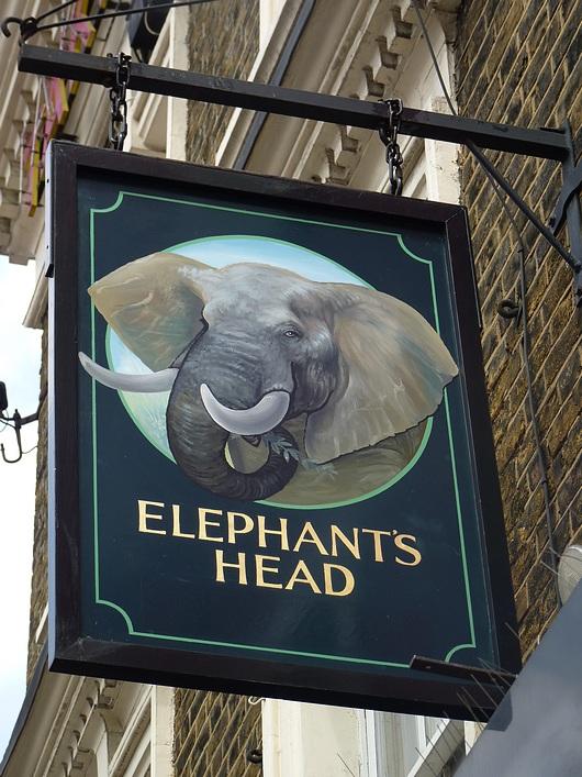Elephant's head pub Camden