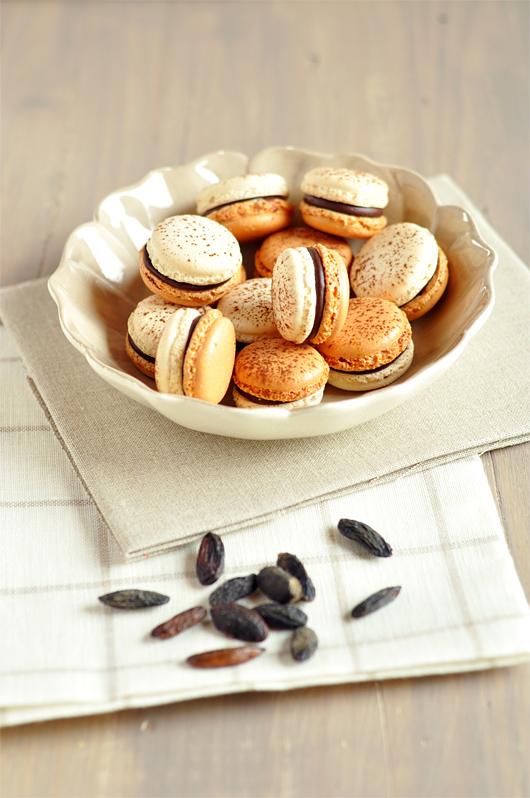 macarons chocolat tonka