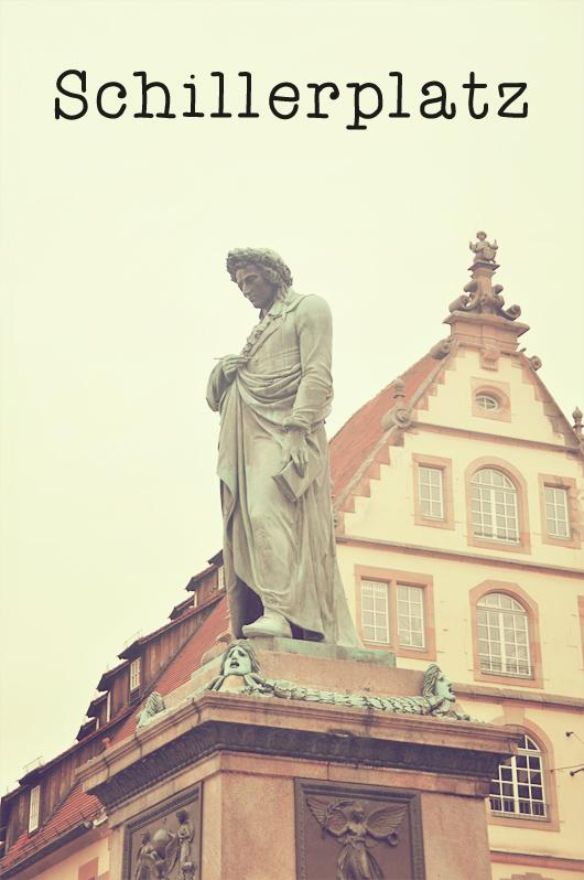 Schillerplatz Stuttgart Allemagne