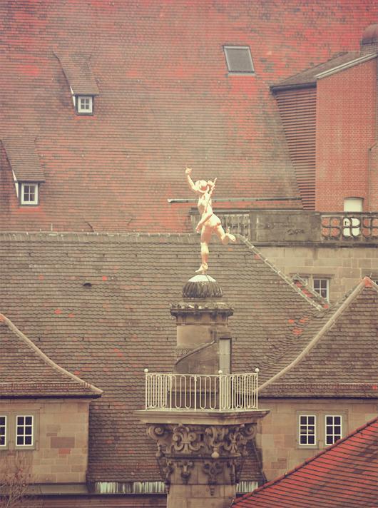 statue Mercure Stuttgart