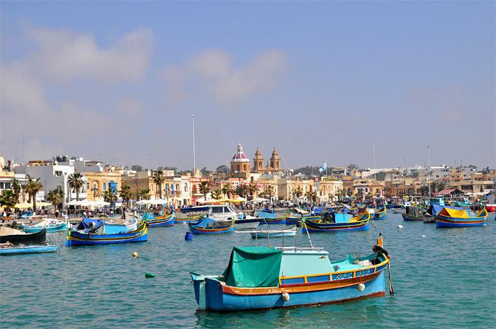 bateaux Marsaxlokk Malte