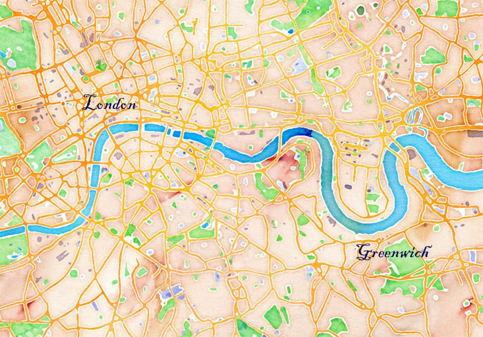 carte Londres Tamise