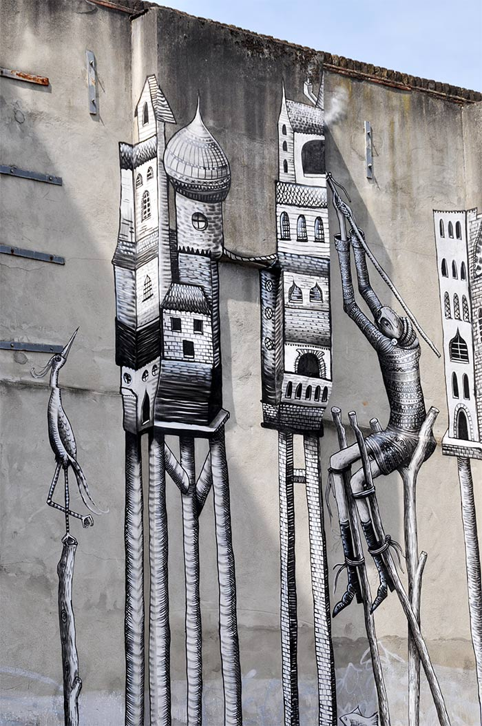 Street art Londres Phlegm