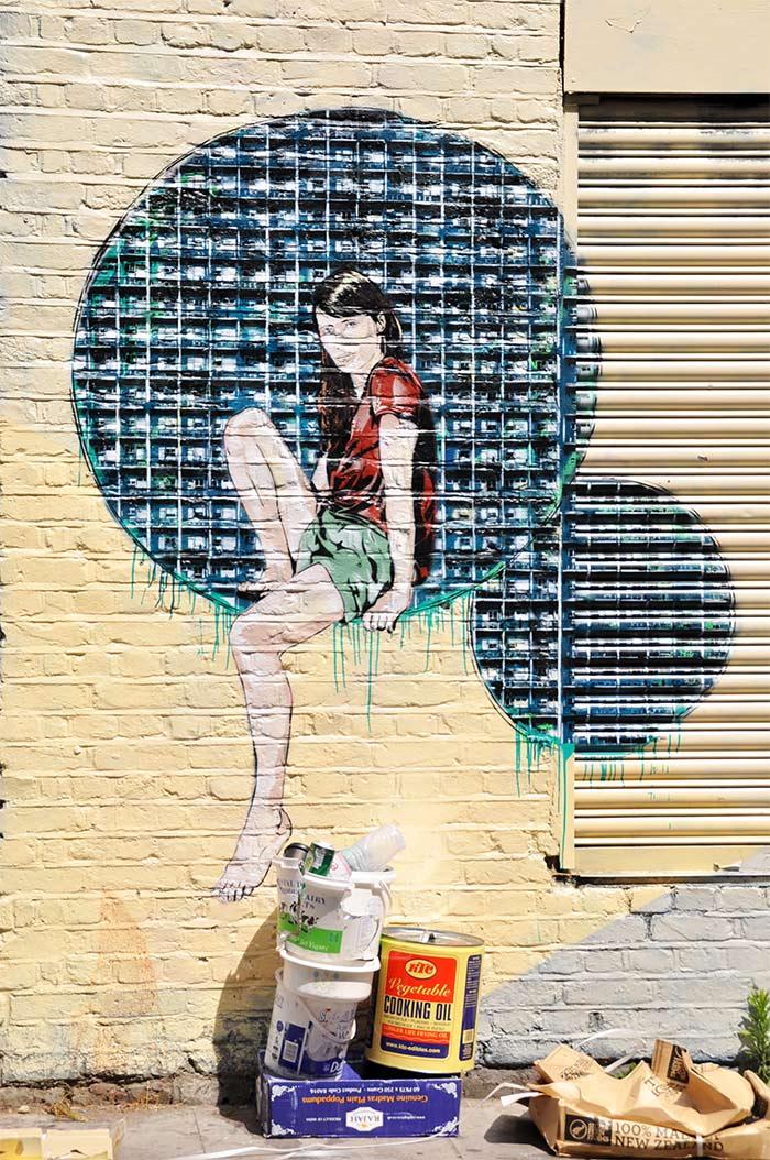 Street art Londres Jana et JS