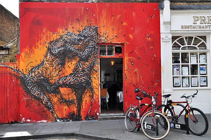 Street art Londres Daleast