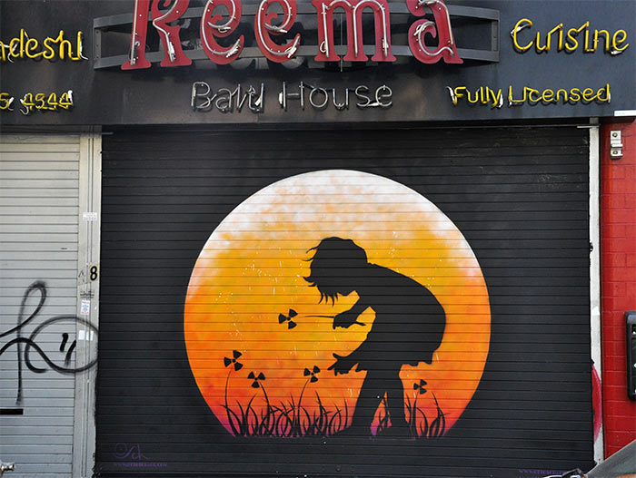 Street art Londres Otto Schade