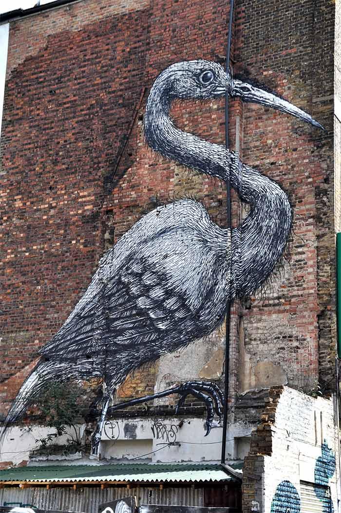 Street art Londres Roa