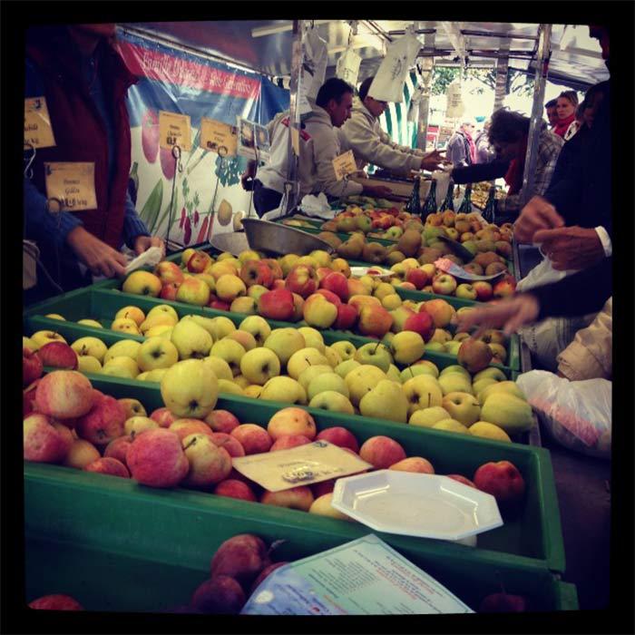 marché pommes