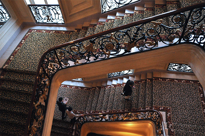 escalier Paris InterContinental le Grand