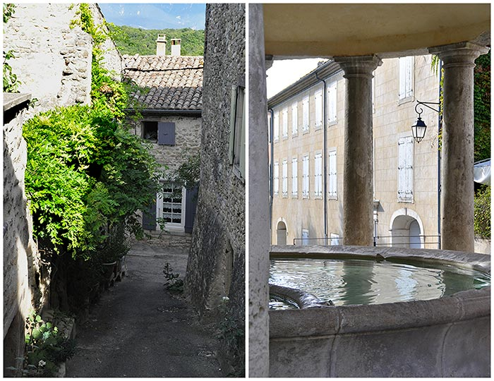 village Grignan drôme lavoir