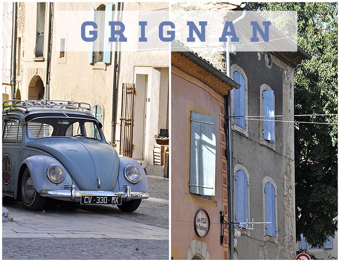village Grignan drôme