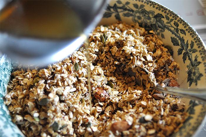 Granola aux cinq graines