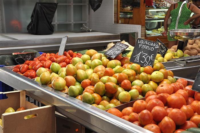 étalage tomates