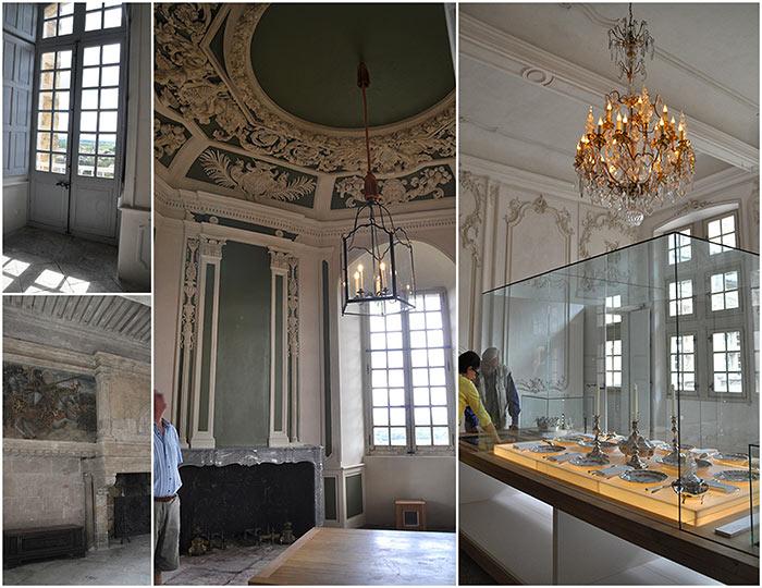 intérieur château Suze la Rousse