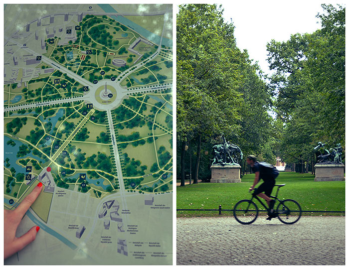 cycling in Tiergarten