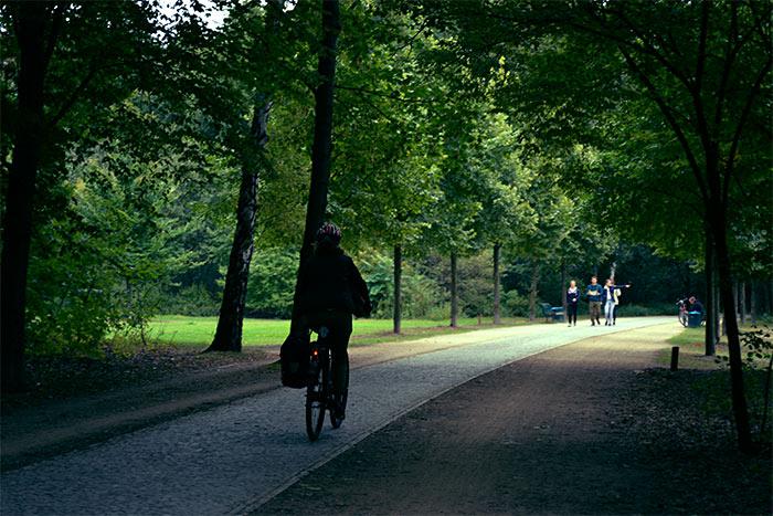 chemin vélo parc Tiergarten