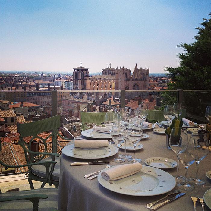 Restaurant Villa Florentine terrasse