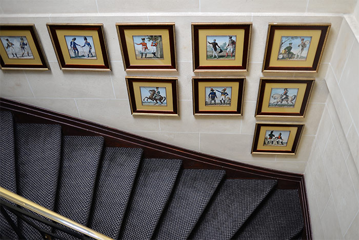 escalier hotel napoleon
