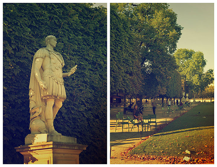 statue romaine jardin