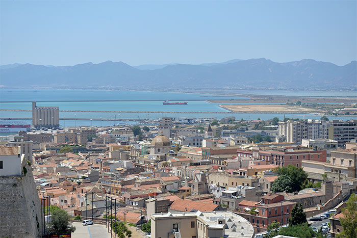 view on cagliari