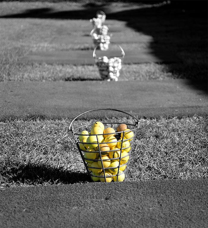 panier balles de golf