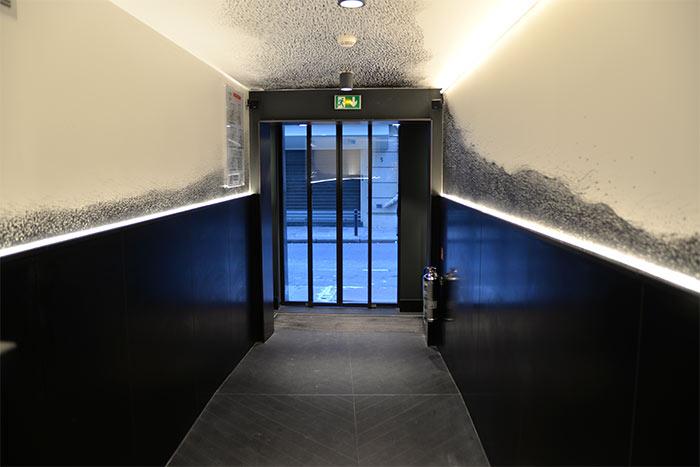 chess hotel corridor