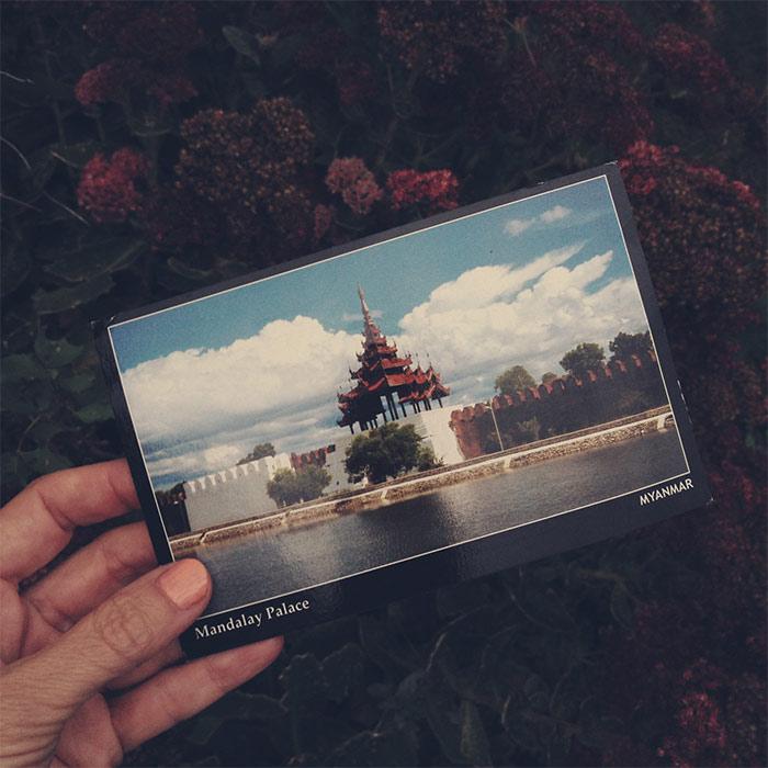carte postale birmanie