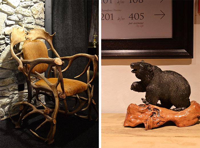 fauteuil bois de rennes