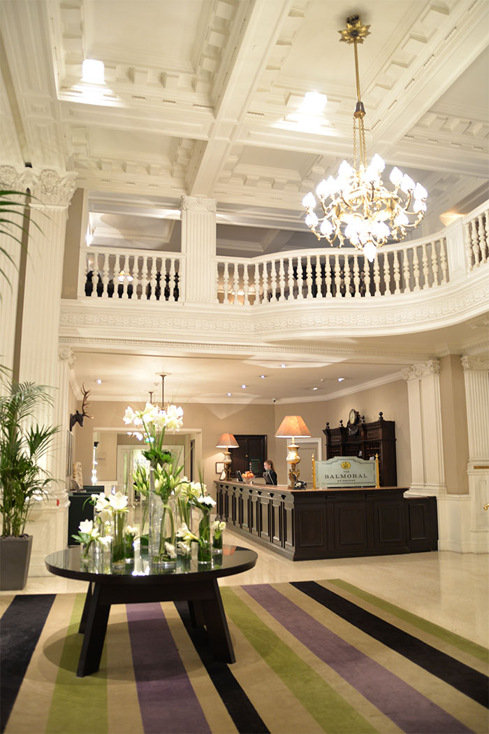 The Balmoral Edinburgh lobby