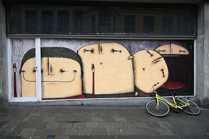 Bisscr street art Gent