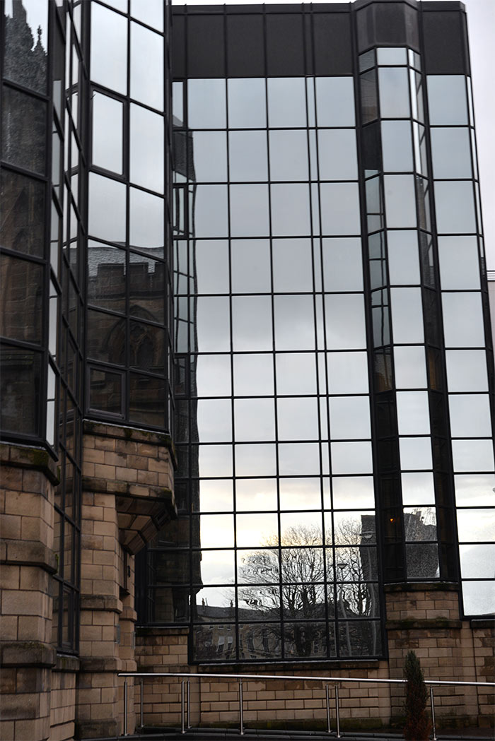 immeuble miroir glasgow