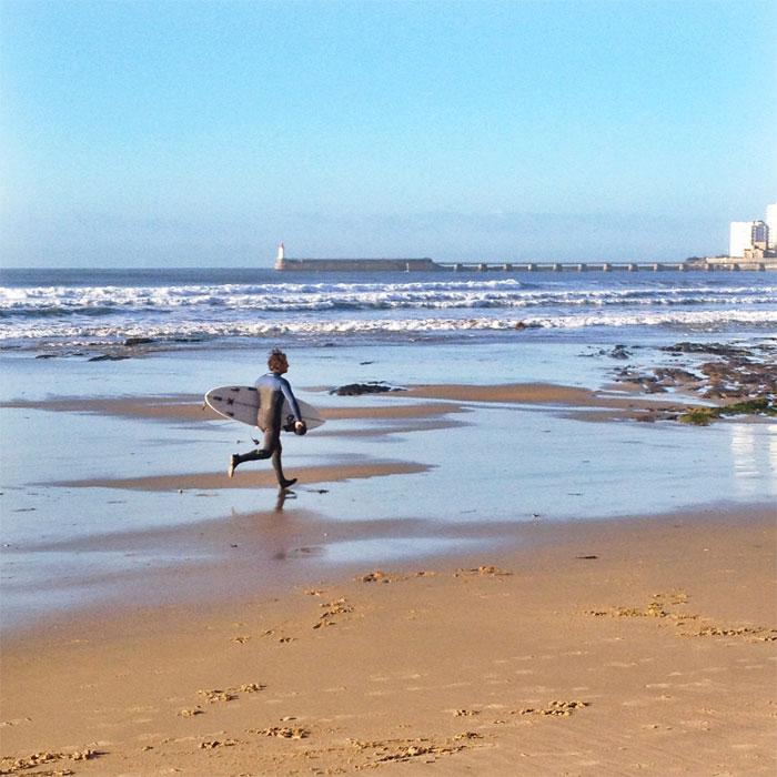 surfeur plage