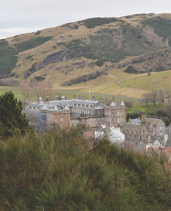 Holyrood Castle Calton Hill