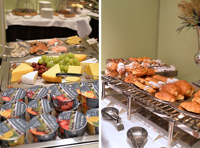 breakfast buffet at the balmoral