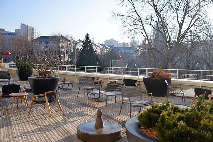 terrasse okko hotel Grenoble