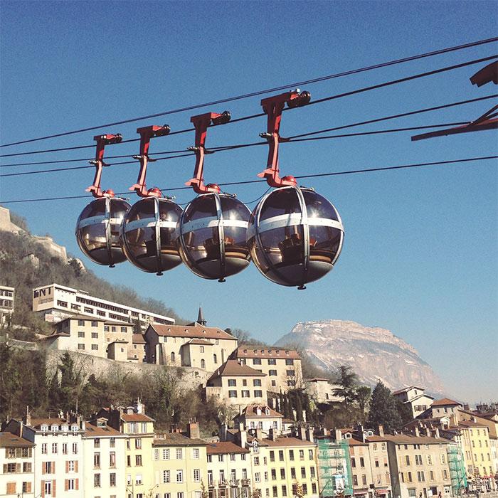 bulles téléphérique Grenoble