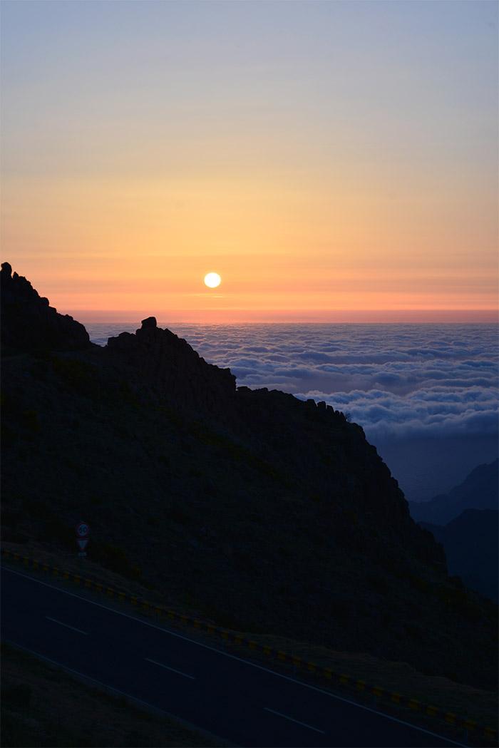 lever soleil pico do arieiro madeira