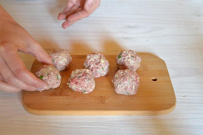 boulettes viande boursin