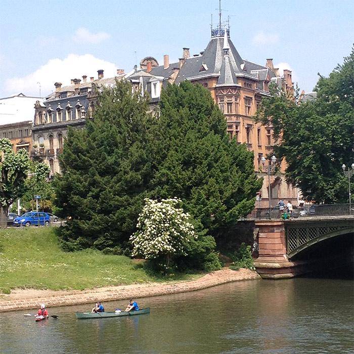 strasbourg l'Ill canoe