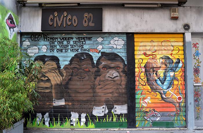 Milan street art Navigli