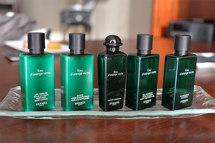 Hermes toiletries at Sofitel Marseille