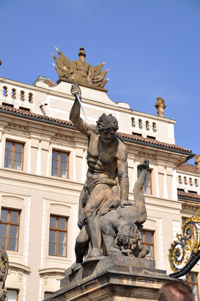 statues prague château