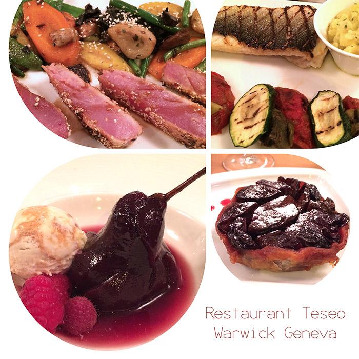 restaurant teseo warwick geneve