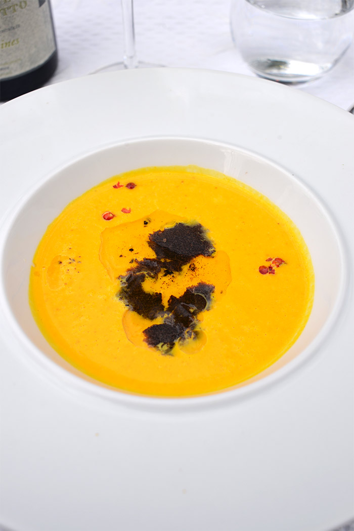 soupe courge truffe