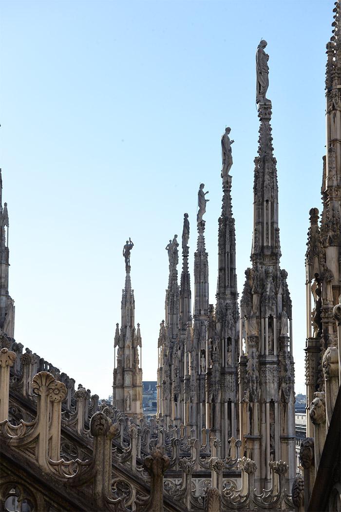 toits cathédrale milan