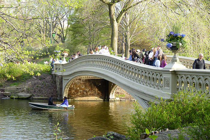 central park bow bridge new york