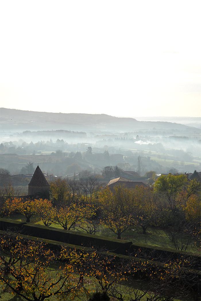 vue chateau bagnols beaujolais